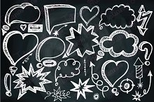 Speech Bubbles,Doodle arrows,Chalk