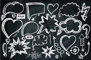 Speech Bubbles,Doodle arrows,Chalk