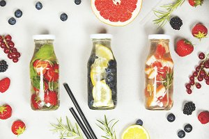fruit infused flavored water