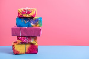 stack of giftbox