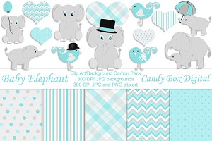 Boy Baby Elephant Combo Pack