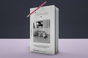 Book Hard Cover Mockup 4