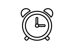 Web line icon. Alarm clock black