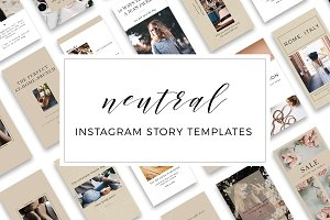 Neutral Instagram Story Templates
