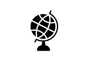 Web icon. Globe. vector illustration