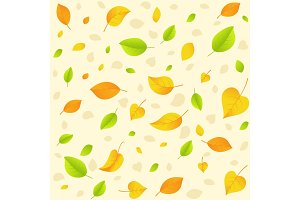 Autumn leaf. Seamless pattern.