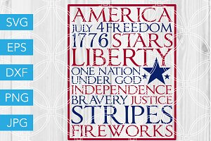 4th of July SVG Fourth of July Art