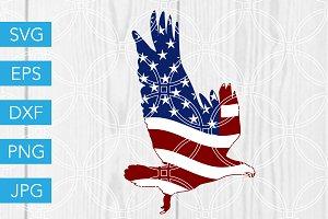 Patriotic Eagle Flag 4th of July SVG