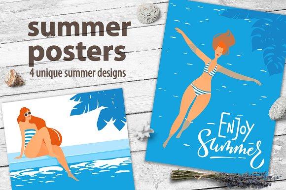 summer posters graphics creative market