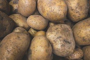 pile of potatoes detail