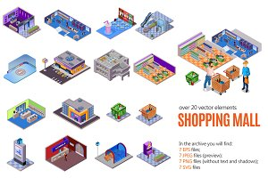 Shopping Mall Isometric Set