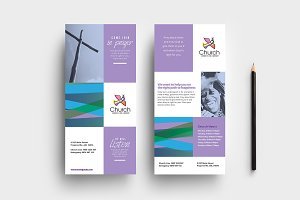 Modern Church DL Card Template