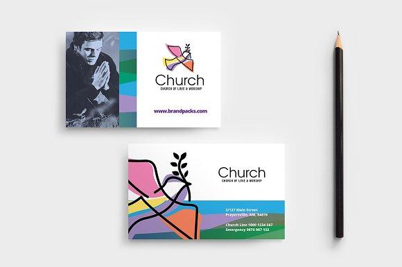 modern church business card template business card templates