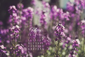 May 2015 Desktop Calendar Photo