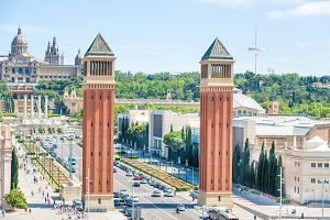 Venetian Towers at Barcelona square