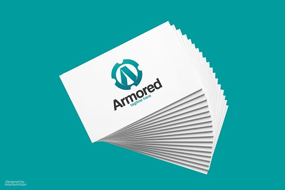 Armored A Letter Logo