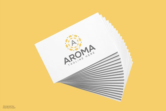 Aroma A Letter Logo