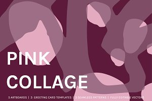 Pink Collage | Cards + Designs