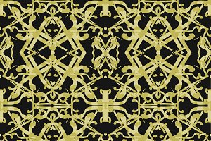 Golden Ornate Intricate Pattern