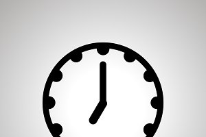 Clock face icon showing 7-00