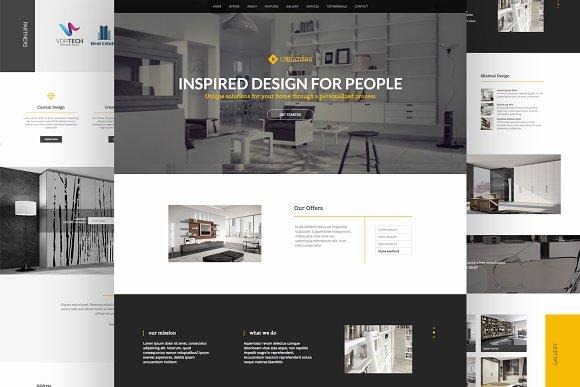 Creators Responsive Landing Page