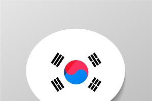 Speech bubble with korean flag