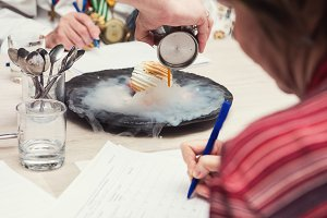 tasting and evaluation of food