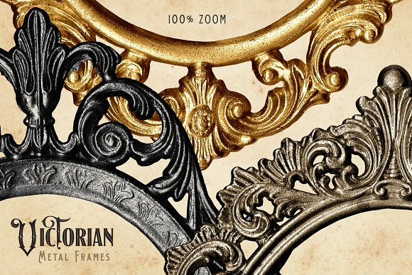 57728a3fb69c Victorian Metal Frames ~ Graphic Objects ~ Creative Market