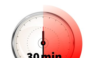 Thirty minutes timer icon