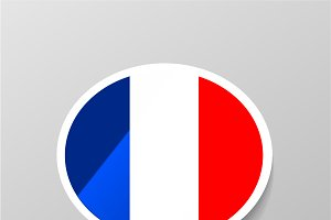 Speech bubble with french flag