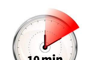 10 minutes timer icon