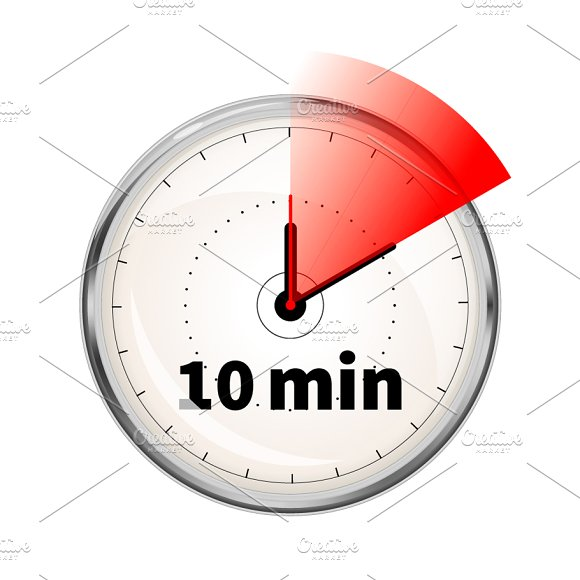 10 minutes timer icon graphic objects creative market