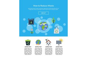 Vector illustration with ecology flat icons