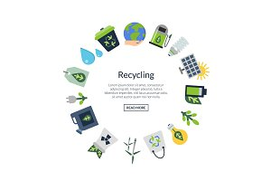 Vector ecology flat icons