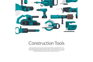 Vector with electric construction tools
