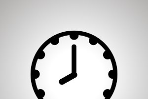 Clock face icon showing 8-00