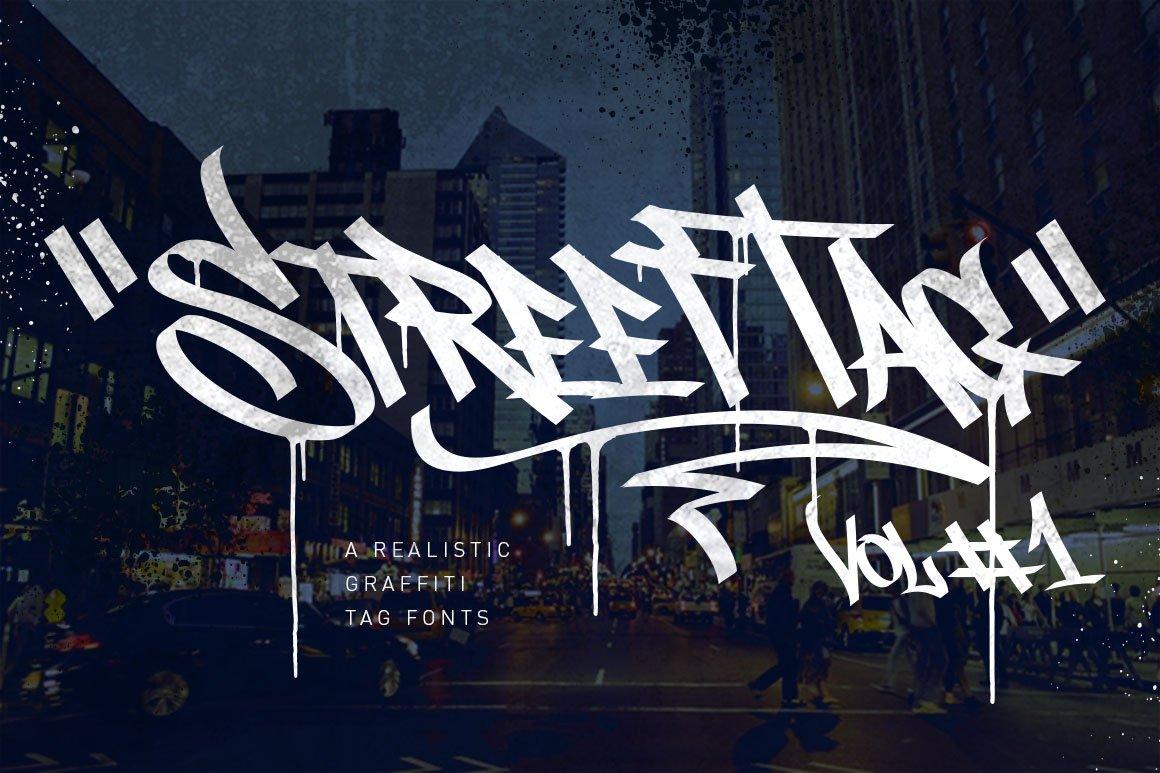 Graffiti Font Street Tag Vol1 Stunning Display Fonts