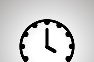 Clock face icon showing 4-00
