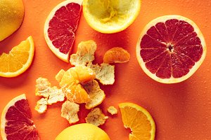 details of citrus fruits