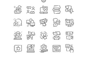 Chat Line Icons