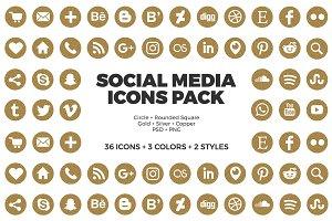 Social Media Icons Glitter Pack