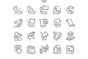 Phones Line Icons