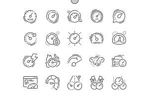 Speedometer Line Icons