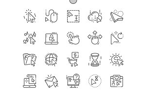 Selection & Cursors Line Icons