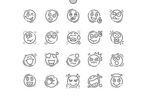 Emotions Line Icons