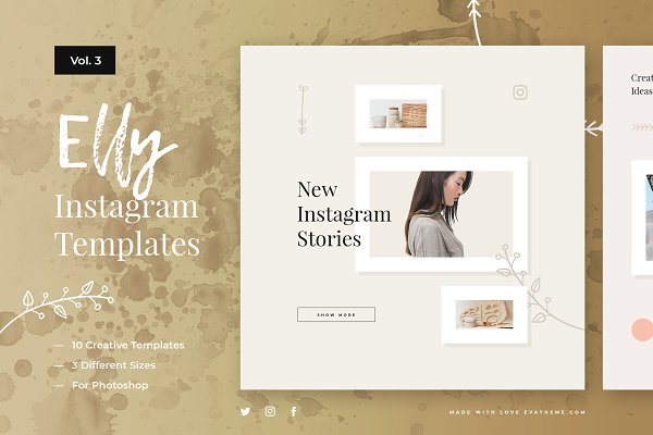 Templates: Evatheme Market - Elly Instagram Templates Vol.3