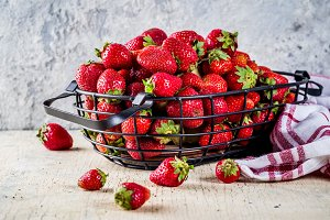Raw fresh strawberry