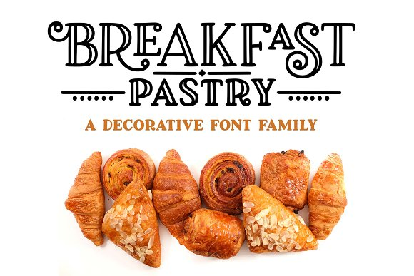 Breakfast Pastry A Decorative Font