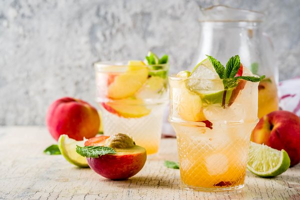 Food Stock Photos: Rimma - Iced peach lemonade