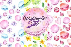 Watercolor Set Sweets